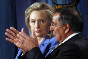 Secretaries Clinton and Panetta