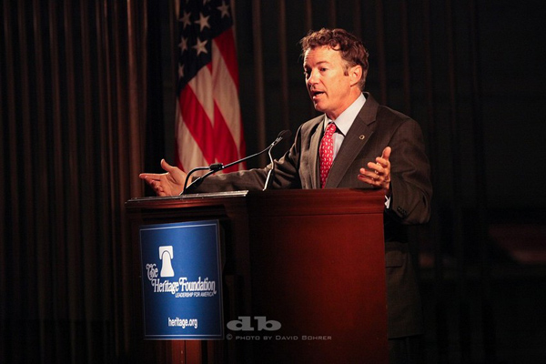 Sen. Rand Paul (R-KY) addresses members of Heritage's Legacy Society this week during a series of events on the importance of America's first principles. Photo: David Bohrer