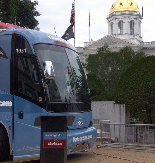 Heritage's bus tour stopped last week at the state capitol in Concord, NH.