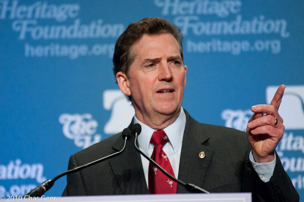 Jim DeMint at Heritage in 2010.