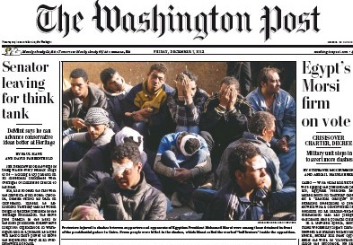 Washington Post front page December 7, 2012