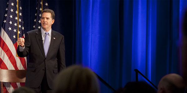Heritage President-Elect Jim DeMint speaks to hundreds of Heritage members in New York Tuesday. Photo: Shealah Craighead