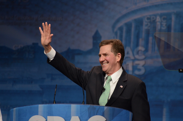 Heritage President-Elect Jim DeMint at CPAC March 14. Via @JimDeMint