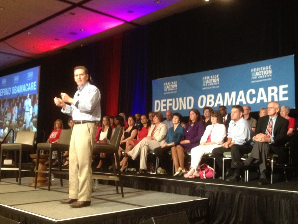 Heritage President Jim DeMint on the road with the Defund Obamacare Tour.