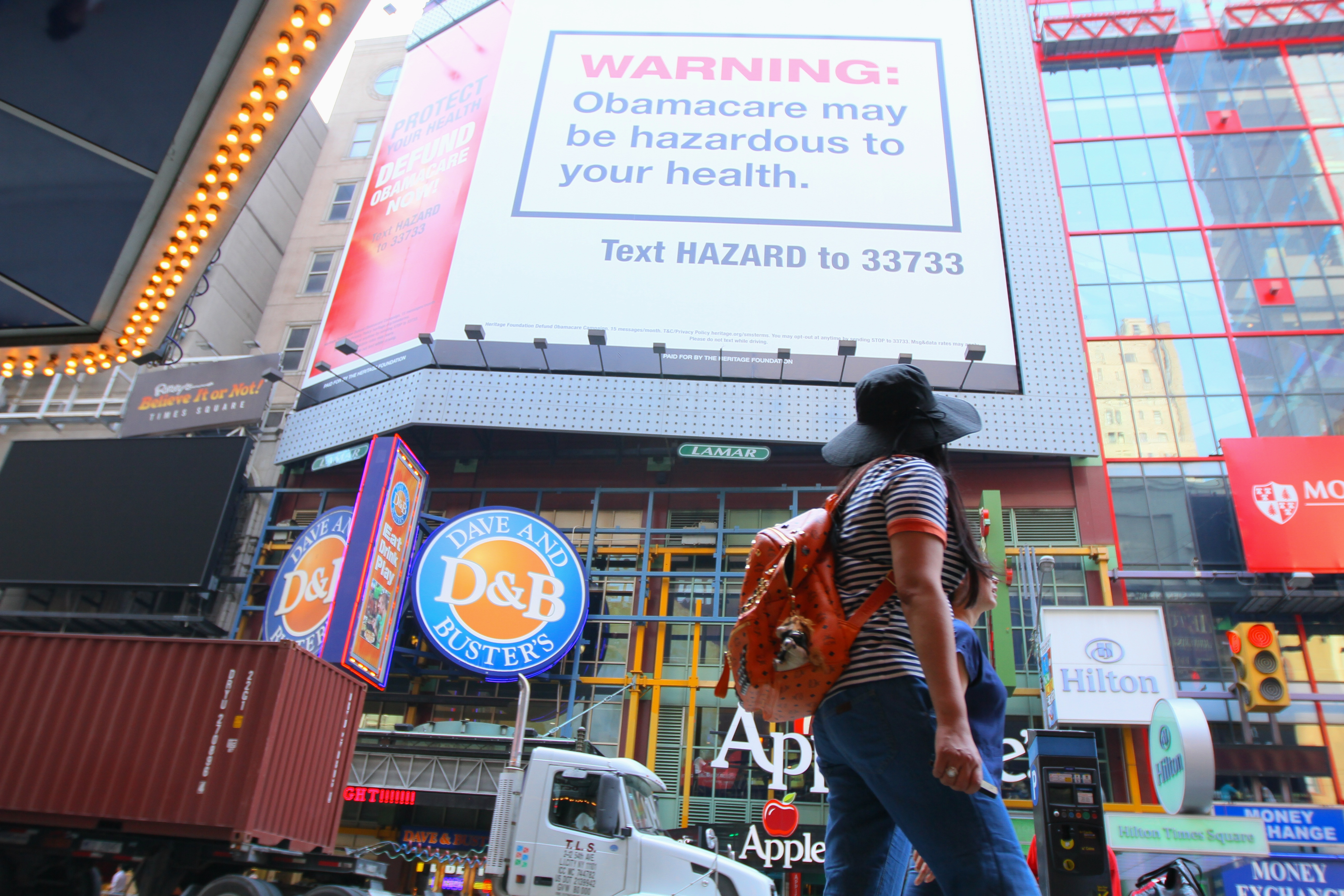 What Heritage's Obamacare Billboard in New York Looks Like