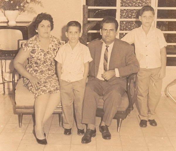 The Guerra family in 1961.
