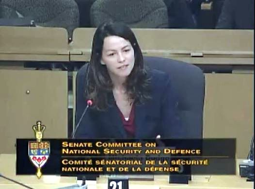Michaela Dodge testifies before Canadian Parliament