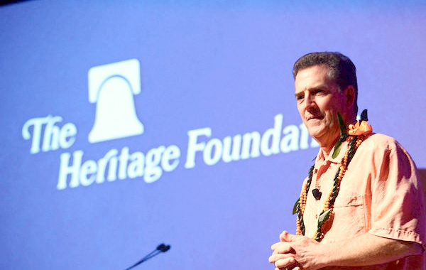 Heritage President Jim DeMint addresses conservatives in Honolulu last week.