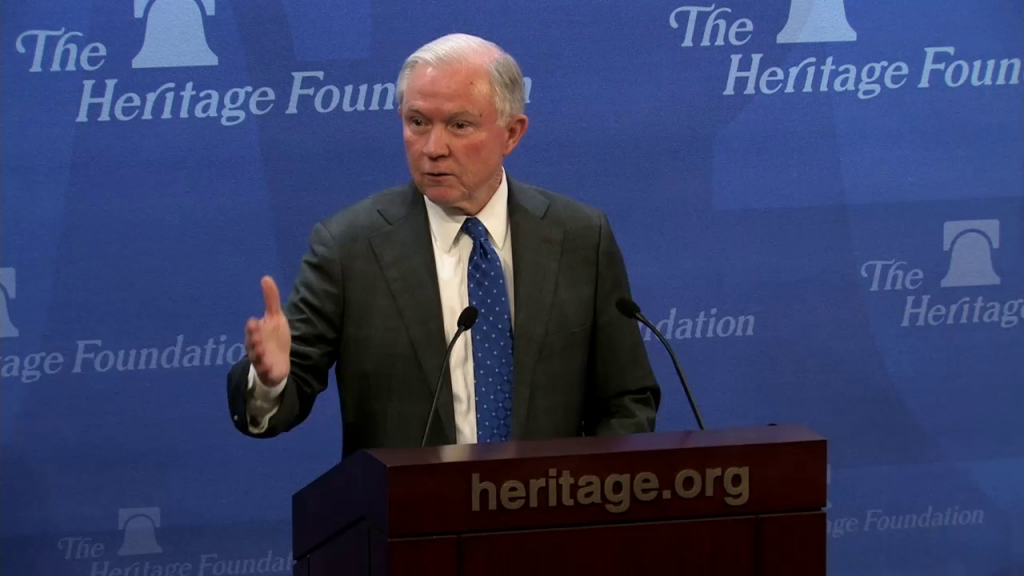 Senator Sessions (R-AL) speaks at the Heritage Foundation