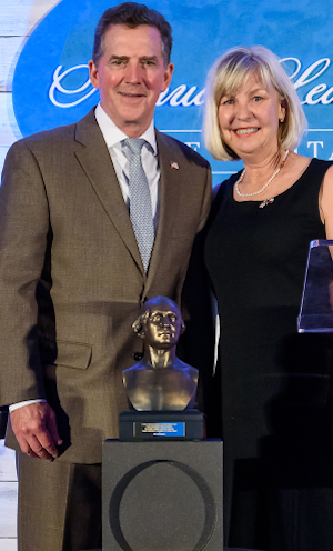 Billi Jean Murphree accepts The George Washington Generations Yet Unborn award on behalf of her husband, Terry Murphree
